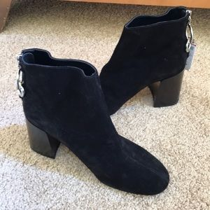 New! Zara size 36/6 black leather ankle boots
